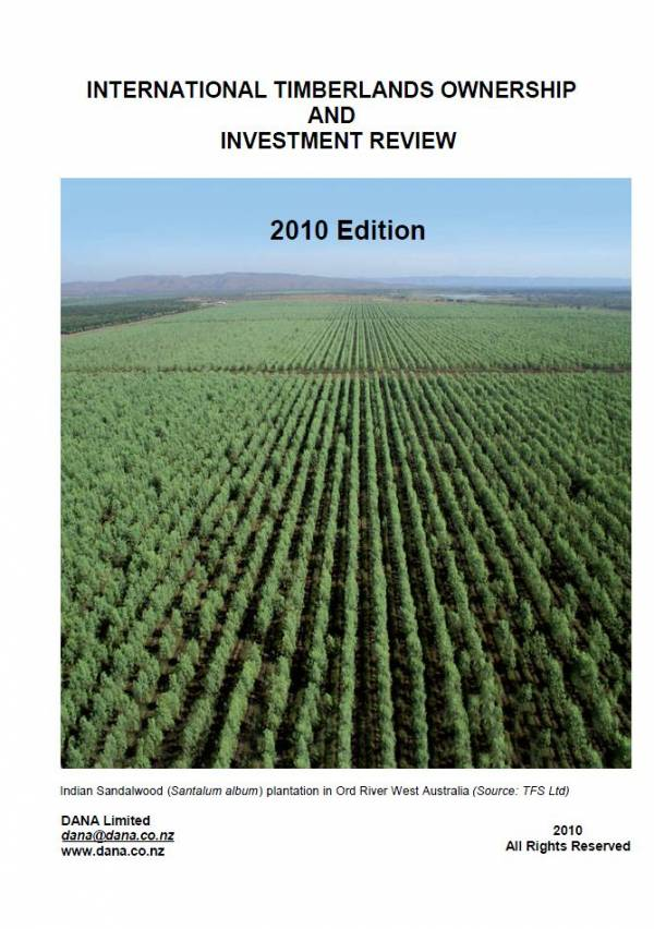 Cover image 2010 International Timberlands Ownership and Investment Review
